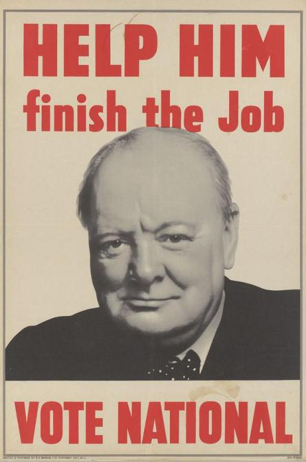 Conservative Election Poster 1945